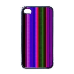Fun Striped Background Design Pattern Apple Iphone 4 Case (black) by Simbadda