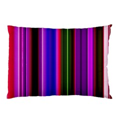 Fun Striped Background Design Pattern Pillow Case (two Sides) by Simbadda