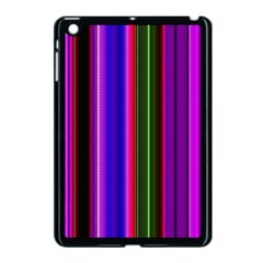 Fun Striped Background Design Pattern Apple Ipad Mini Case (black) by Simbadda