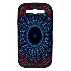 Digital Circle Ornament Computer Graphic Samsung Galaxy S Iii Hardshell Case (pc+silicone) by Simbadda