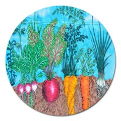 Mural Displaying Array Of Garden Vegetables Magnet 5  (round) by Simbadda