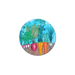 Mural Displaying Array Of Garden Vegetables Golf Ball Marker (4 Pack) by Simbadda