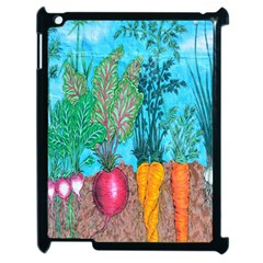 Mural Displaying Array Of Garden Vegetables Apple Ipad 2 Case (black) by Simbadda