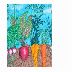 Mural Displaying Array Of Garden Vegetables Large Garden Flag (two Sides) by Simbadda
