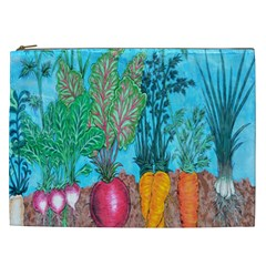 Mural Displaying Array Of Garden Vegetables Cosmetic Bag (xxl)