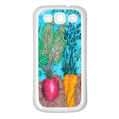 Mural Displaying Array Of Garden Vegetables Samsung Galaxy S3 Back Case (white) by Simbadda