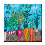 Mural Displaying Array Of Garden Vegetables Tile Coasters Front