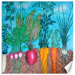 Mural Displaying Array Of Garden Vegetables Canvas 12  X 12   by Simbadda