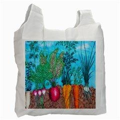 Mural Displaying Array Of Garden Vegetables Recycle Bag (two Side)  by Simbadda