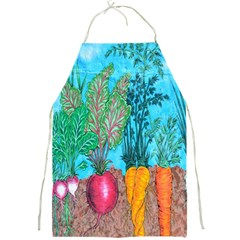 Mural Displaying Array Of Garden Vegetables Full Print Aprons by Simbadda