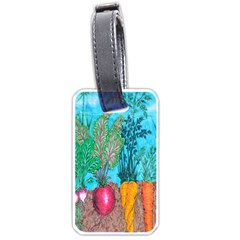 Mural Displaying Array Of Garden Vegetables Luggage Tags (one Side)  by Simbadda