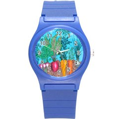 Mural Displaying Array Of Garden Vegetables Round Plastic Sport Watch (s) by Simbadda