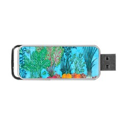 Mural Displaying Array Of Garden Vegetables Portable Usb Flash (two Sides) by Simbadda