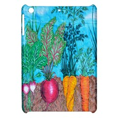 Mural Displaying Array Of Garden Vegetables Apple Ipad Mini Hardshell Case by Simbadda