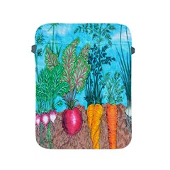 Mural Displaying Array Of Garden Vegetables Apple Ipad 2/3/4 Protective Soft Cases by Simbadda