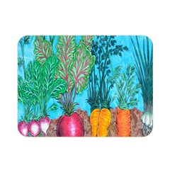 Mural Displaying Array Of Garden Vegetables Double Sided Flano Blanket (mini)  by Simbadda