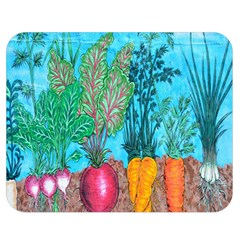 Mural Displaying Array Of Garden Vegetables Double Sided Flano Blanket (medium)  by Simbadda