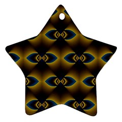 Fractal Multicolored Background Star Ornament (two Sides) by Simbadda