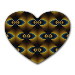 Fractal Multicolored Background Heart Mousepads by Simbadda