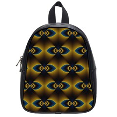 Fractal Multicolored Background School Bags (small)  by Simbadda