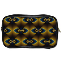 Fractal Multicolored Background Toiletries Bags 2 Side by Simbadda