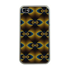 Fractal Multicolored Background Apple Iphone 4 Case (clear) by Simbadda