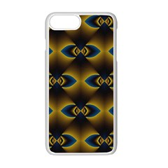 Fractal Multicolored Background Apple Iphone 7 Plus White Seamless Case