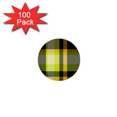 Tartan Pattern Background Fabric Design 1  Mini Buttons (100 Pack)