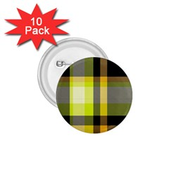Tartan Pattern Background Fabric Design 1 75  Buttons (10 Pack) by Simbadda