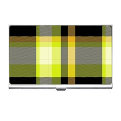 Tartan Pattern Background Fabric Design Business Card Holders