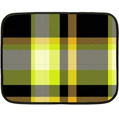 Tartan Pattern Background Fabric Design Double Sided Fleece Blanket (mini)  by Simbadda