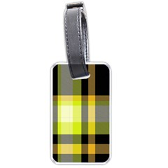 Tartan Pattern Background Fabric Design Luggage Tags (one Side)  by Simbadda