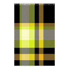 Tartan Pattern Background Fabric Design Shower Curtain 48  X 72  (small)