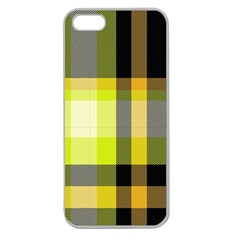 Tartan Pattern Background Fabric Design Apple Seamless Iphone 5 Case (clear) by Simbadda