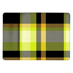 Tartan Pattern Background Fabric Design Samsung Galaxy Tab 10 1  P7500 Flip Case by Simbadda