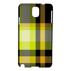 Tartan Pattern Background Fabric Design Samsung Galaxy Note 3 N9005 Hardshell Case by Simbadda
