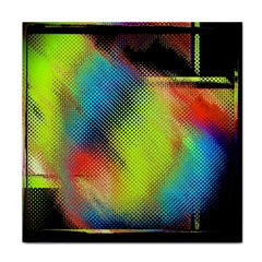 Punctulated Colorful Ground Noise Nervous Sorcery Sight Screen Pattern Tile Coasters by Simbadda