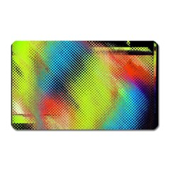 Punctulated Colorful Ground Noise Nervous Sorcery Sight Screen Pattern Magnet (rectangular) by Simbadda
