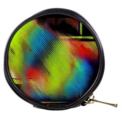 Punctulated Colorful Ground Noise Nervous Sorcery Sight Screen Pattern Mini Makeup Bags