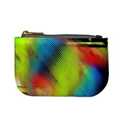 Punctulated Colorful Ground Noise Nervous Sorcery Sight Screen Pattern Mini Coin Purses by Simbadda