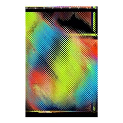 Punctulated Colorful Ground Noise Nervous Sorcery Sight Screen Pattern Shower Curtain 48  X 72  (small)  by Simbadda