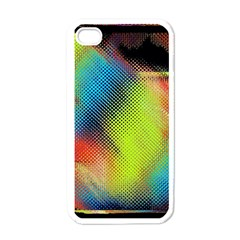 Punctulated Colorful Ground Noise Nervous Sorcery Sight Screen Pattern Apple Iphone 4 Case (white)