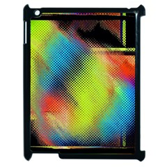 Punctulated Colorful Ground Noise Nervous Sorcery Sight Screen Pattern Apple Ipad 2 Case (black) by Simbadda