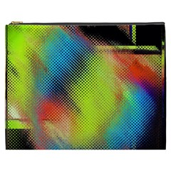 Punctulated Colorful Ground Noise Nervous Sorcery Sight Screen Pattern Cosmetic Bag (xxxl)