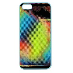 Punctulated Colorful Ground Noise Nervous Sorcery Sight Screen Pattern Apple Seamless Iphone 5 Case (color)
