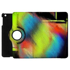 Punctulated Colorful Ground Noise Nervous Sorcery Sight Screen Pattern Apple Ipad Mini Flip 360 Case by Simbadda