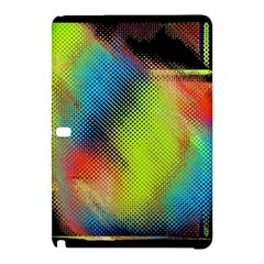 Punctulated Colorful Ground Noise Nervous Sorcery Sight Screen Pattern Samsung Galaxy Tab Pro 10 1 Hardshell Case by Simbadda