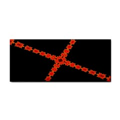 Red Fractal Cross Digital Computer Graphic Cosmetic Storage Cases by Simbadda