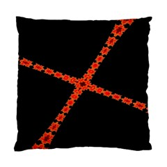 Red Fractal Cross Digital Computer Graphic Standard Cushion Case (one Side) by Simbadda