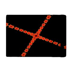 Red Fractal Cross Digital Computer Graphic Apple Ipad Mini Flip Case